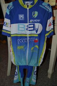 SMS Santini Cycling shirt and bib with pad - Mens size Medium