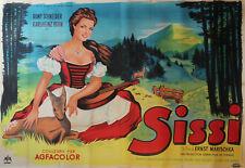 """""""SISSI"""" Affiche originale entoilée 1955 (Ernst MARISCHKA / Romy SCHNEIDER)"""