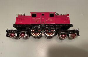 Vintage Prewar Ives Standard Gauge No. 3243 Red NYC 4-4-4 Electric Engine