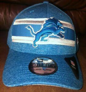 Mens New Era NFL 39Thirty Detroit Lions OnField Football Cap Hat Blue NWT
