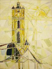 Odile Desormeaux (XX) Eglise de Batz sur mer Galerie Bernheim 1973 Guérande