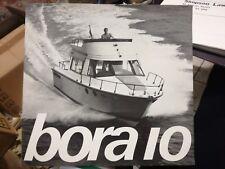 Bora 10 barca brochure advertisement  1974 nautica cantiere