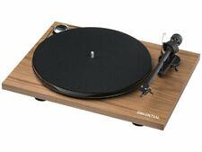 Pro-Ject Plattenspieler Essential III Bluetooth Walnuss + Haube + Ortofon OM10