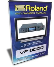 Roland VP-9000 DVD Training Tutorial Manual Help