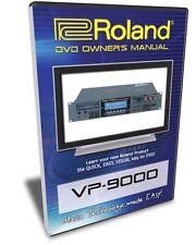 Roland VP-9000 DVD Training Tutorial Manual Help