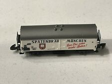 More details for märklin, miniclub, wagon covered beer spatenbau, scale z in box 8602