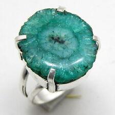 Solar Quartz Druzy 925 Sterling Silver Handmade Jewelry Ring Us Size 8''A3
