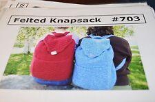Cabin Fever Knitting Pattern 703 Felted Knapsack