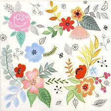 4x Garden Fantasy Paper Napkins for Decoupage Decopatch Craft