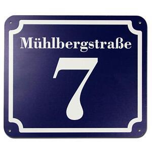 Schild Hausnummer und Straße oder Namen nach Ihren Wünschen 2 mm Aluverbund