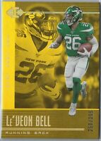 Le'Veon Bell - 2019 PANINI ILLUSIONS #69 GOLD PARALLEL SN 258/399 NEW YORK JETS