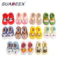 Infant Baby Boys Girls Indoor Slippers Anti-slip Warm Crawling Shoes Crib Socks