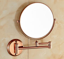 Rose Gold Folding Bathroom Makeup Mirror Wall Mount Vanity Mirror 3x Magnifying
