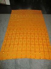 MASSE di vintage con metà del secolo tessuto arancione 70s