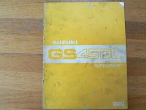 SUZUKI GS450 L SUPPLEMENT 1980 SERVICE MANUAL  MOTORCYCLE MOTORRAD BIKE GS 450 L