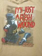 Men's XL Monty Python & The Holy Grail Movie It's Just A Flesh Wound T-shirt NM