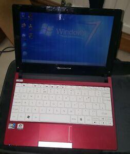 """Packard Bell Dot S Red Laptop Notebook 10.1"""" 1GB 250GB Webcam Windows 7 Battery"""