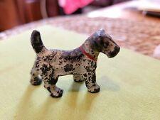 Antique Vintage Hubley Cast Iron Miniature Fox Terrier Airedale Toy Dog