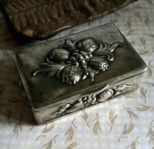 Old floral box kraft alpacca snuff vacuum pocket