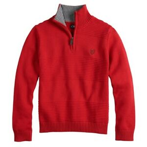 Boy's Chaps Ralph Lauren Quarter-Zip Pullover Sweater in Red - NEW