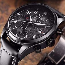 Superbe Montre Pour Homme Model De Luxe Chronographe Date Bracelet En Cuire