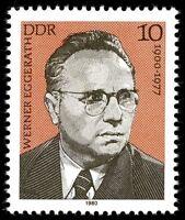 [CF7094] RDA 1980, Personajes del movimiento obrero alemán (MNH)