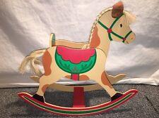 Hallmark Rocking Horse CenterPiece Christmas Card Holder Wood