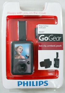 Philips GoGear Move Pack - PAC017 - Belt Clip, Armband, Pouch - Black