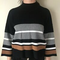 Native Youth Jumper Top Fine Knit Size Cropped Black Size XS,S,M,L 6-16 EZ76