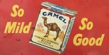 CAMEL CIGARETTES 810 X 380 MM METAL SIGN HEAVY DUTY GREAT FOR MAN CAVE BAR