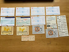 Lot Of 14 Deutsche Bahn Tickets For Collecting Fahrkarte für Sammler