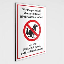 Hundekot Schild - SEI Kein Schwein DIN A4