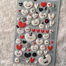 Glitter Foam Heart Shaped Sticker Scrapbooking Art.Craft Adhesive Home·Decor HC
