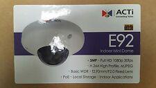 Acti E92 3Mp/Indr/Dome/Fixed/2.93