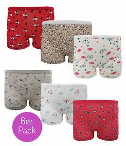 6er Unterhose Slip Schlüpfer Pants Panties Hipster Mädchen Unterwäsche Kinder