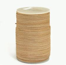 100m Lederband 2mm (0,35 €/1m) Farbe: Natur 100 Meter auf Rolle/Spule