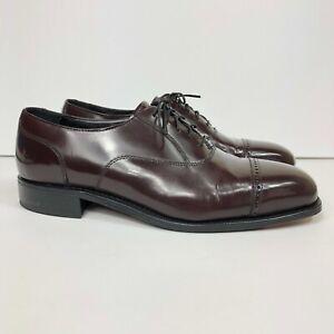 Florsheim Lexington Men's Size US 10.5 D Leather Cap Toe Oxford Shoes Burgundy