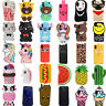 2018 New 3D Cartoon Soft Silicone Phone Case Cover For iPhone X SE 5 6 7 8 Plus
