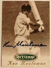 1995 FUTERA HERITAGE CRICKET COLLECTION CARD N0 17/60 SIGNED KEN MEULEMAN