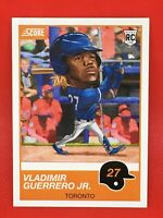 Vladimir Guerrero Jr RC 2019 Score #9 Toronto Blue Jays Rookie Card