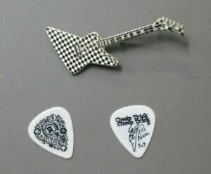 Cheap Trick Guitar Pin Hamer checkerboard VINTAGE + ONE Touring Guitar Pick  !