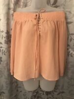 Active USA Off Shoulder Peach Womens Blouse Size Large