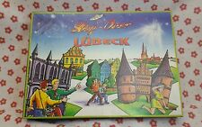 Stop-Over LÜBECK board game UFO Made in Germany 2 part game CBD SPIELE Cebedeus