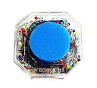 (4.95 EUR/100 Stück) Glaskopf Stecknadeln mit Nadelkissen