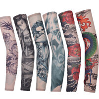 Elastic Nylon Fake Temporary Tattoo Sleeve Arm Stockings Tattoo For Men Women