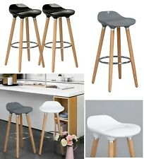 2 x Breakfast Bar Stools Bar Chairs Kitchen Breakfast Stools With Wooden Legs