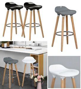 2 x Breakfast Bar Stools Bar Chairs Kitchen Breakfast Stools With Wooden Legs