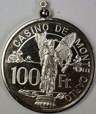 Casino De Monte Carlo 100 Francs Silver Poker Chip Produced by Franklin Mint