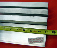 "4 Pieces 1/2""x 2"" ALUMINUM FLAT BAR 11"" long 6061 .50"" Solid Plate Mill Stock"