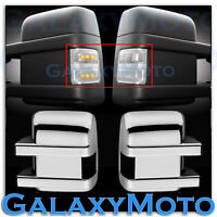 F250+F350+F450+550 Super Duty 2008-2015 Side Mirror Light LED CLEAR+Chrome Cover